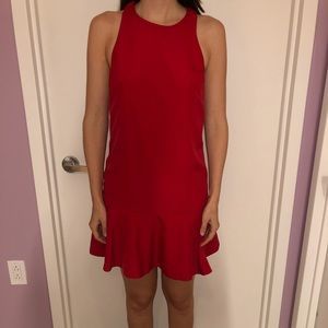 Perfect party dress in bright red